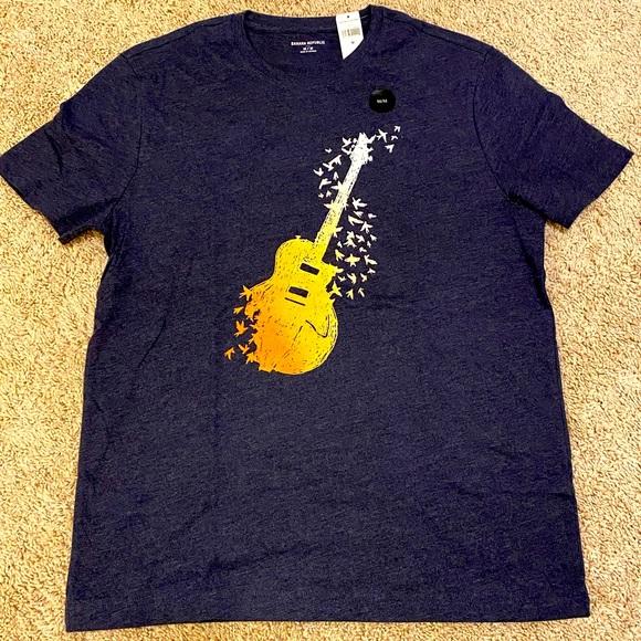 🎸 Banana Republic Men's Guitar T-Shirt NWT